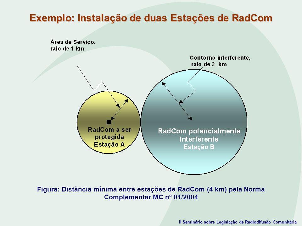 Exemplo: Instalação de duas Estações de RadCom