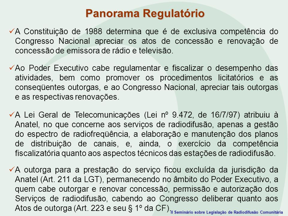 Panorama Regulatório