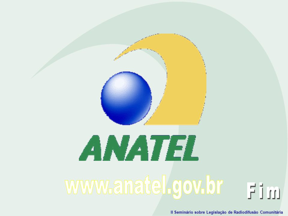 www.anatel.gov.br Fim