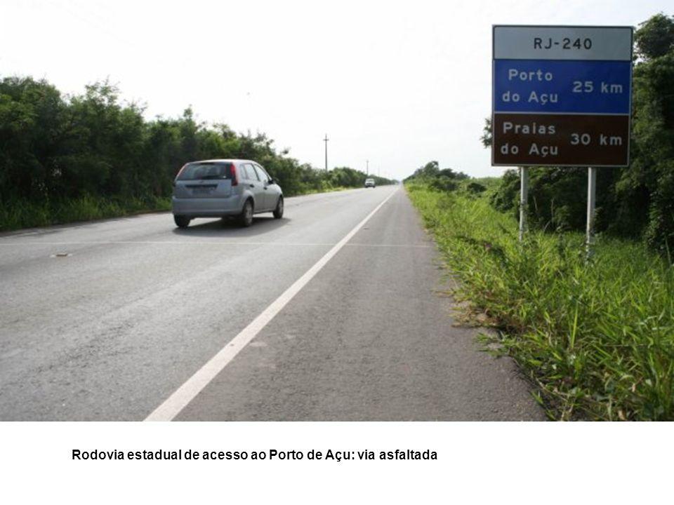 Rodovia estadual de acesso ao Porto de Açu: via asfaltada