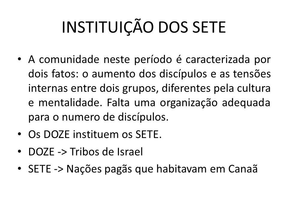 INSTITUIÇÃO DOS SETE