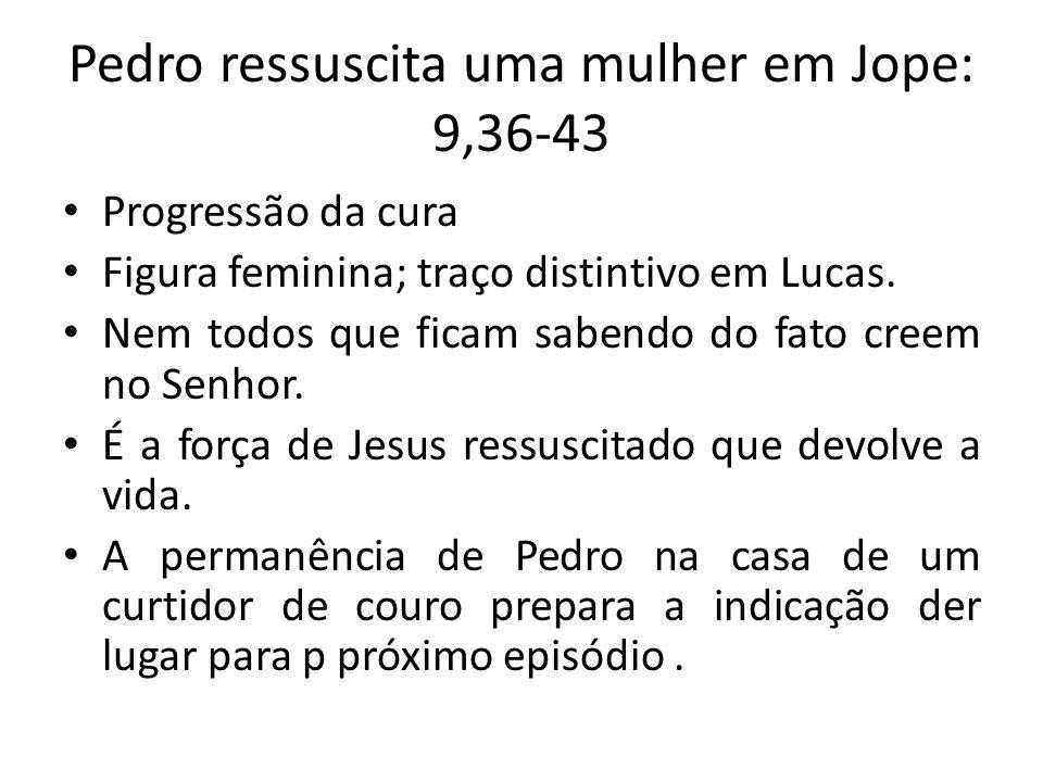 Pedro ressuscita uma mulher em Jope: 9,36-43