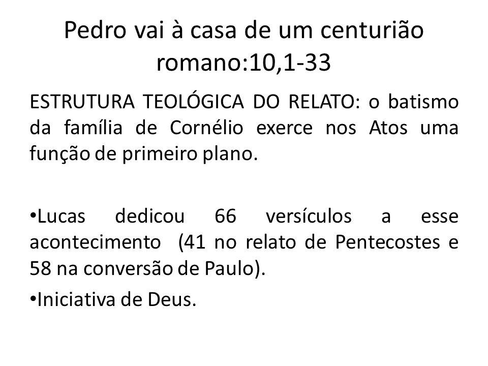 Pedro vai à casa de um centurião romano:10,1-33