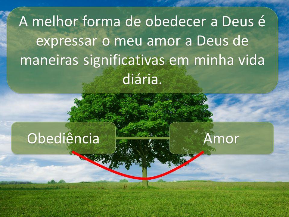 A melhor forma de obedecer a Deus é expressar o meu amor a Deus de maneiras significativas em minha vida diária.