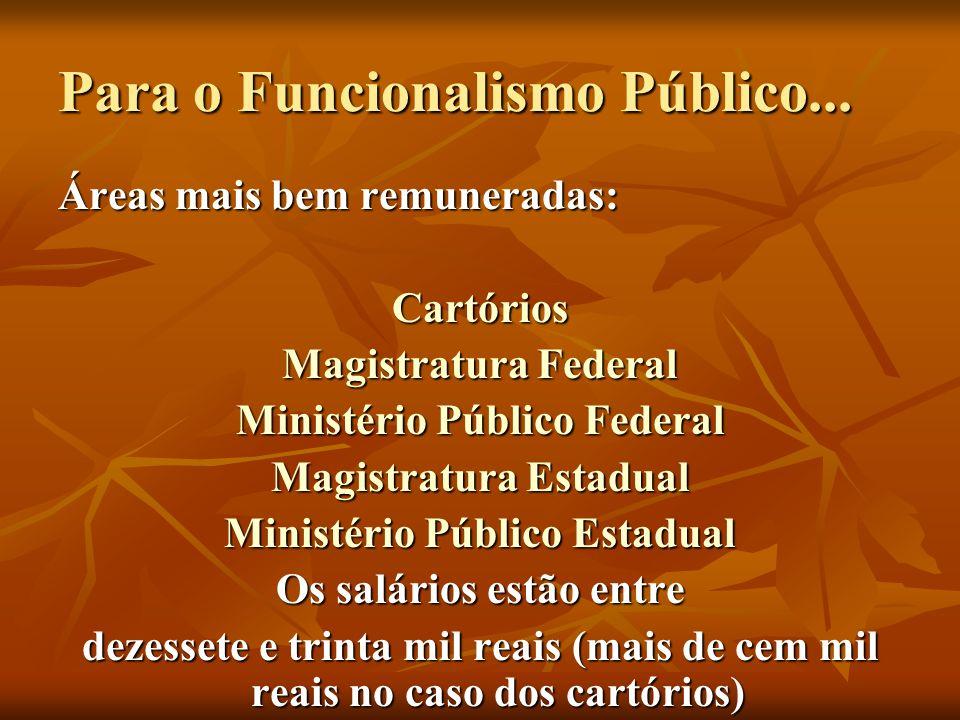 Para o Funcionalismo Público...
