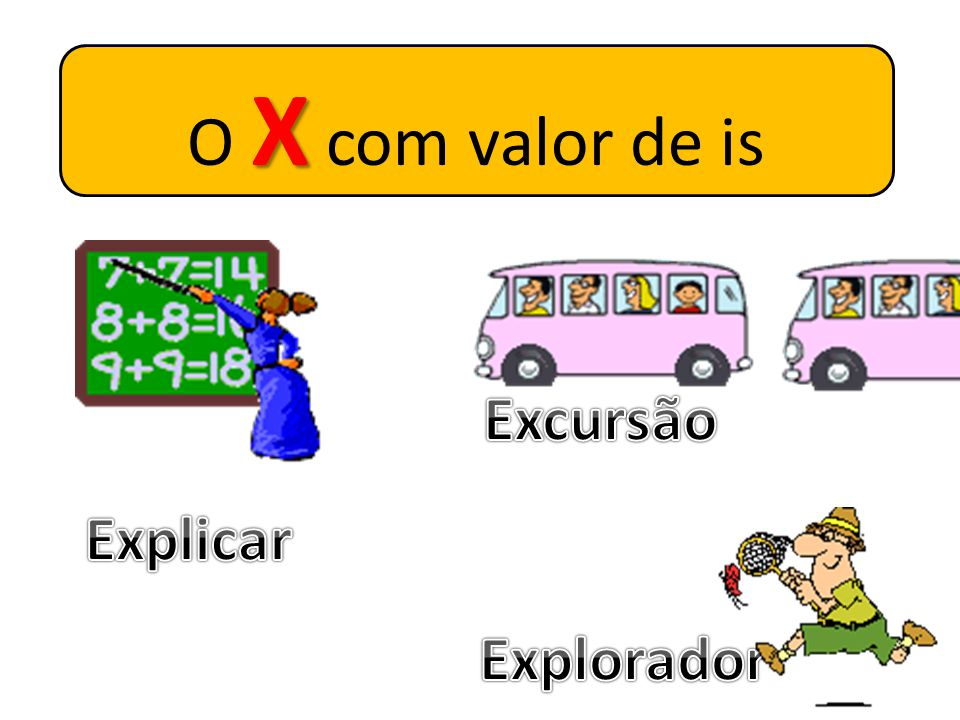 O X com valor de is Excursão Explicar Explorador