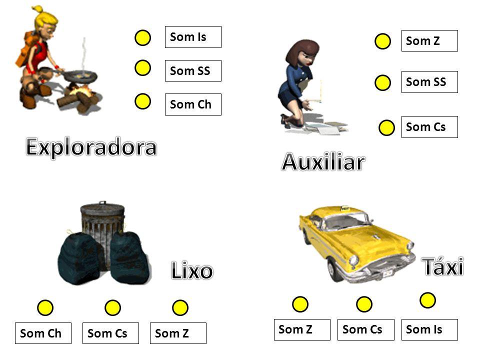 Exploradora Auxiliar Táxi Lixo