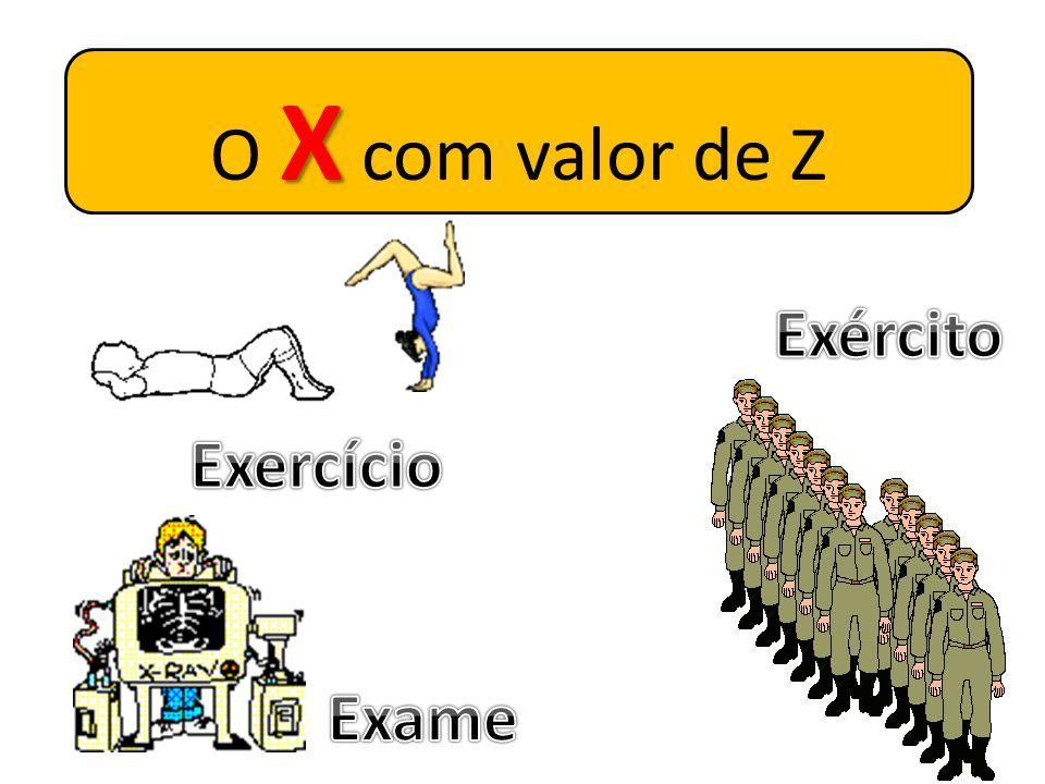 O X com valor de Z Exército Exercício Exame