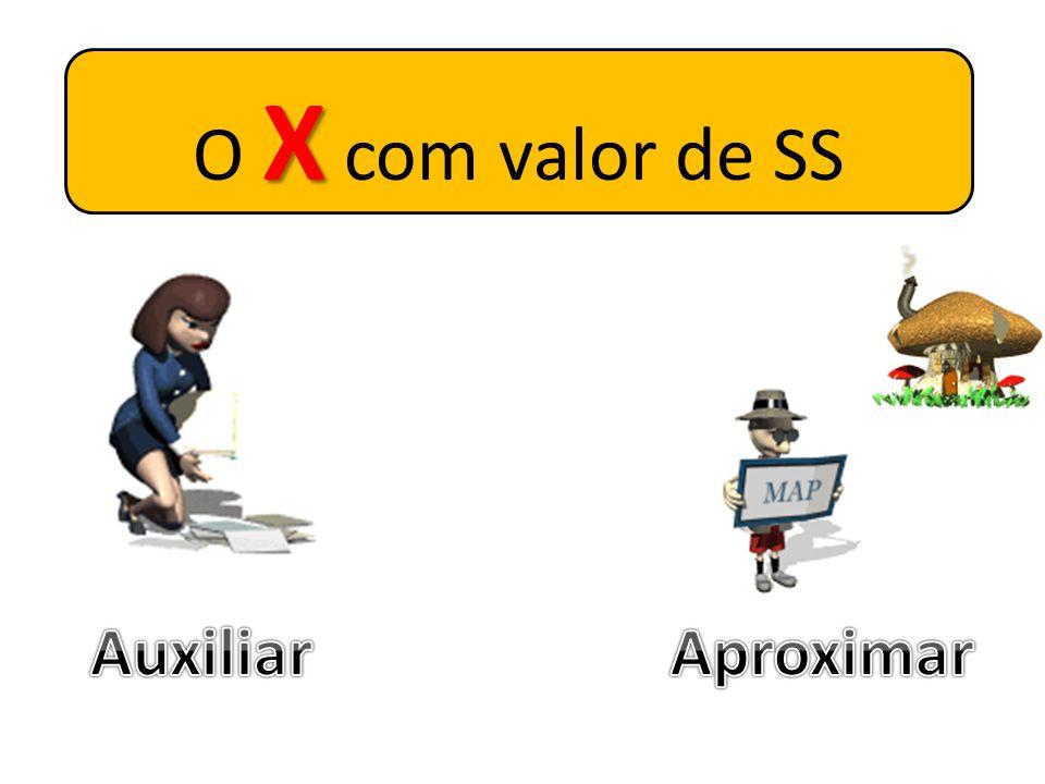 O X com valor de SS Auxiliar Aproximar