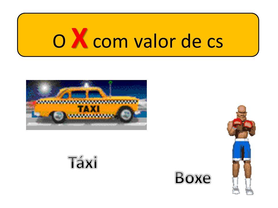 O X com valor de cs Táxi Boxe