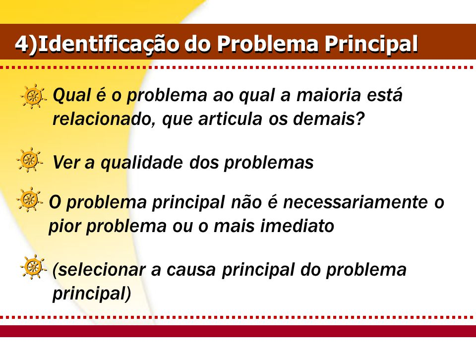 4)Identificação do Problema Principal