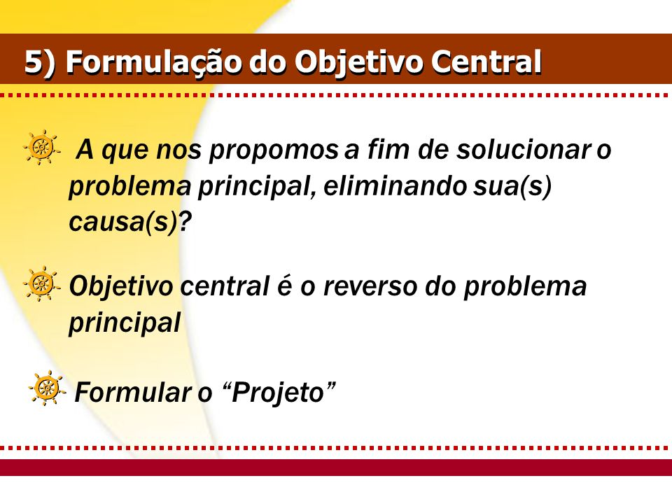 5) Formulação do Objetivo Central