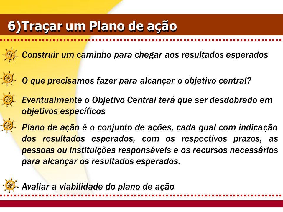 6)Traçar um Plano de ação