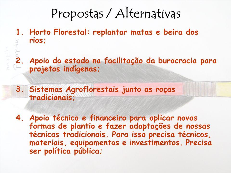Propostas / Alternativas