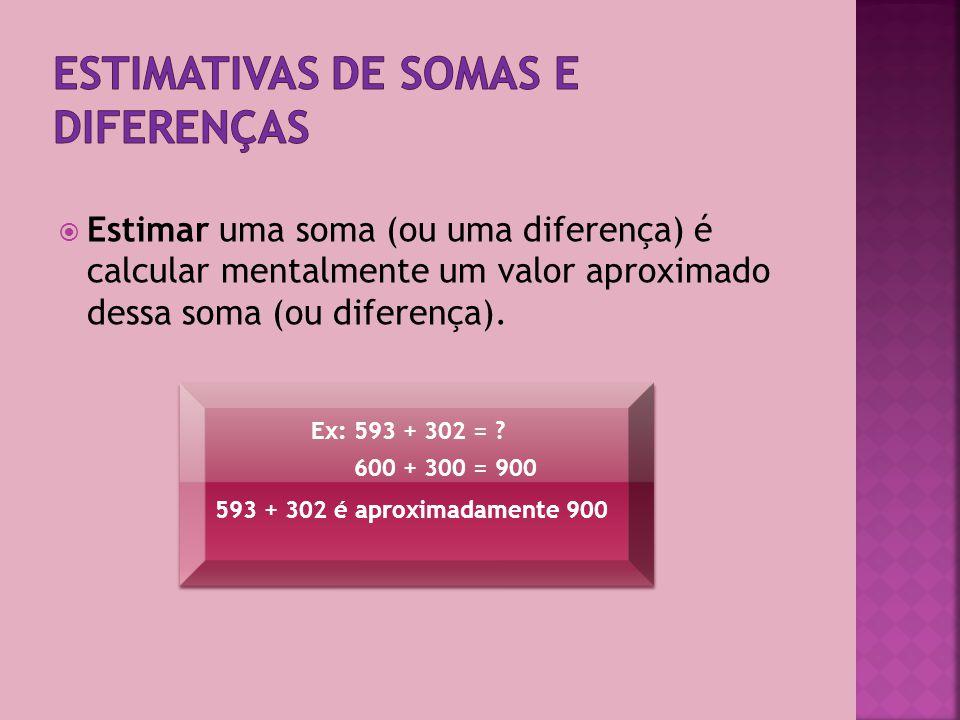 Estimativas de somas e diferenças