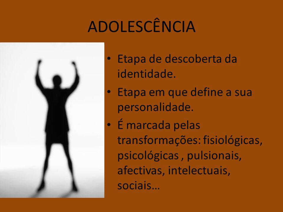 ADOLESCÊNCIA Etapa de descoberta da identidade.