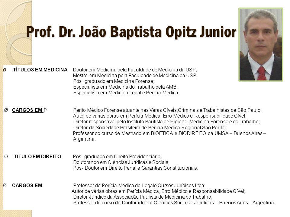 Prof. Dr. João Baptista Opitz Junior