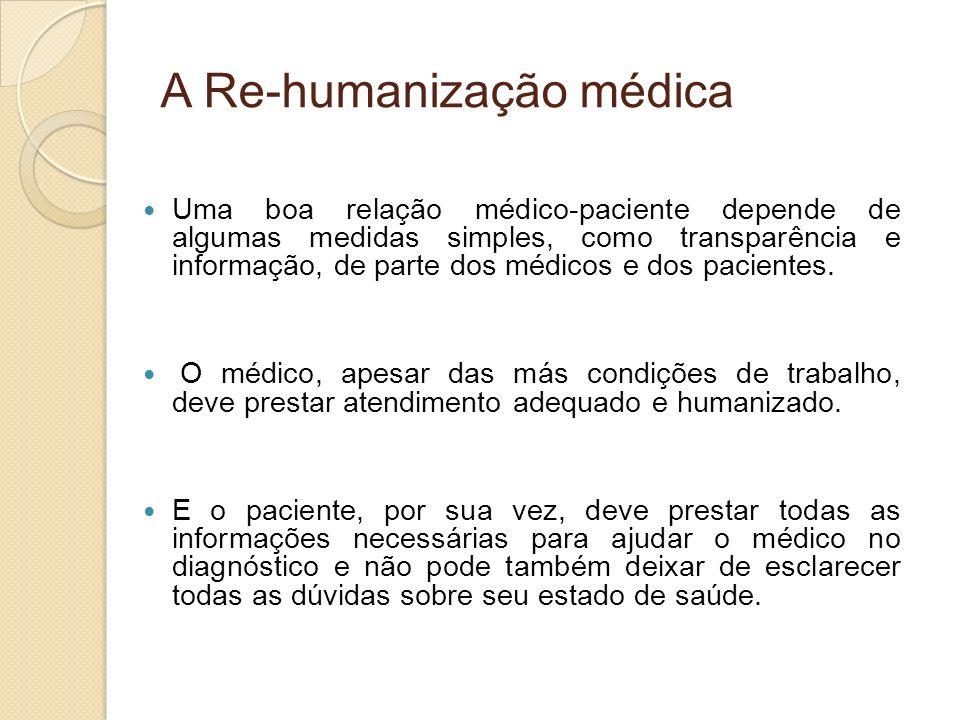 A Re-humanização médica