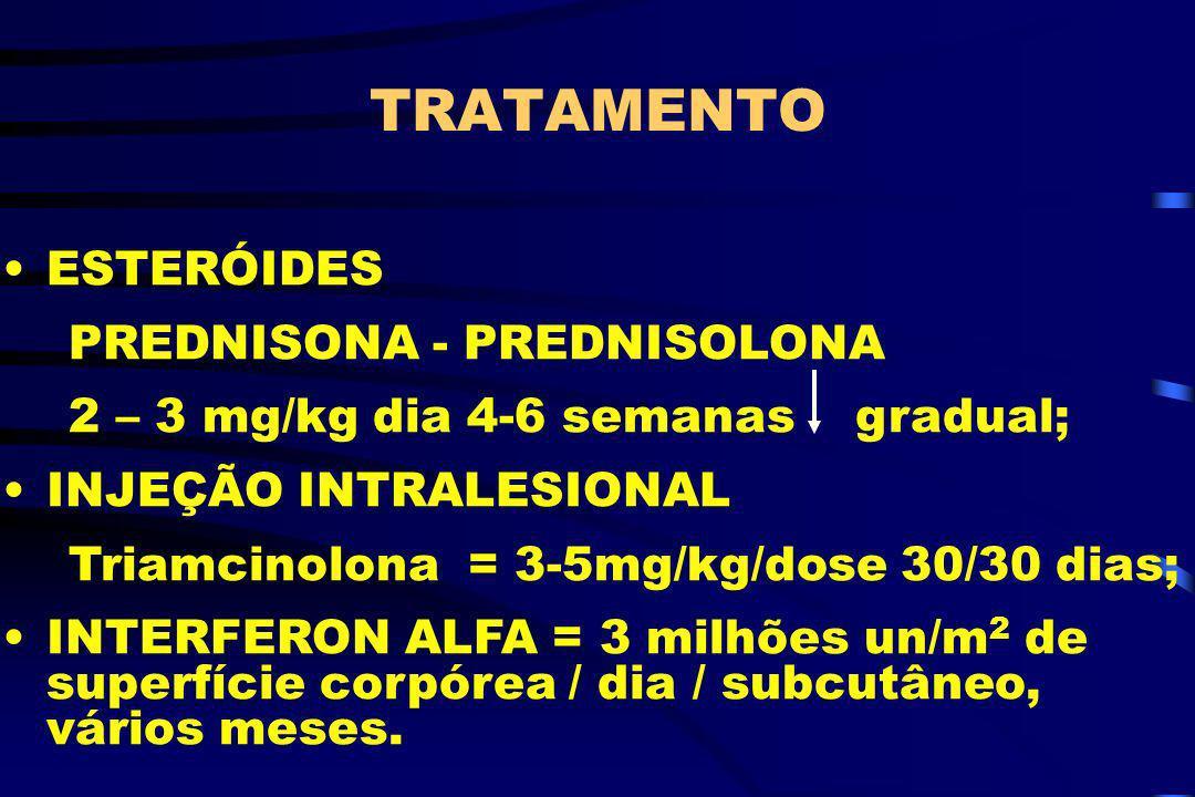 TRATAMENTO ESTERÓIDES PREDNISONA - PREDNISOLONA