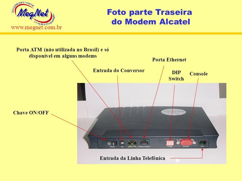 Porta ATM (não utilizada no Brasil) e só disponível em alguns modems