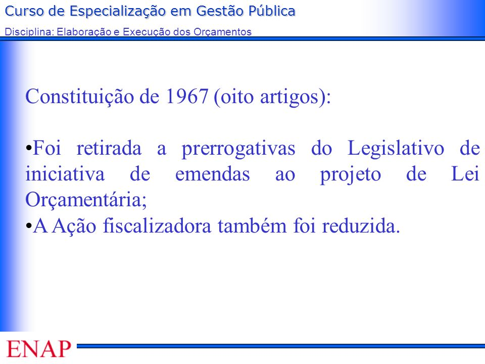 Constituição de 1967 (oito artigos):