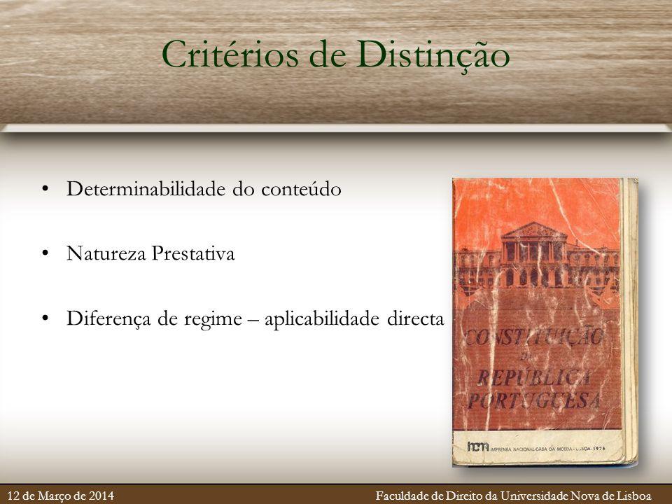 Critérios de Distinção