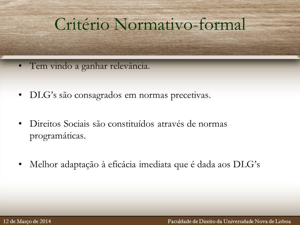 Critério Normativo-formal
