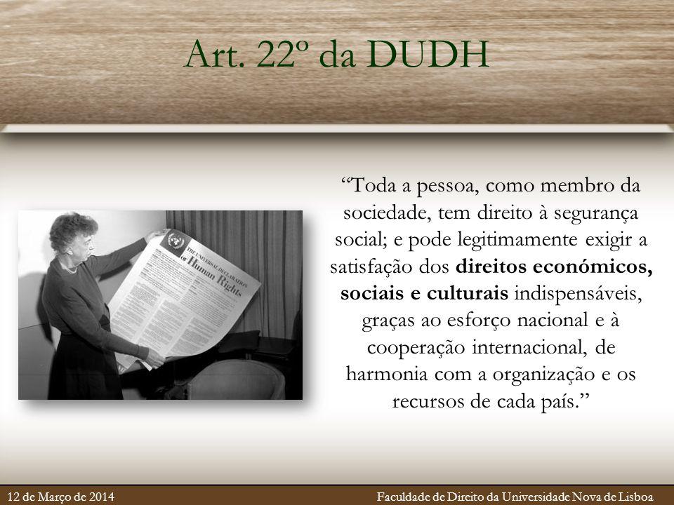 Art. 22º da DUDH