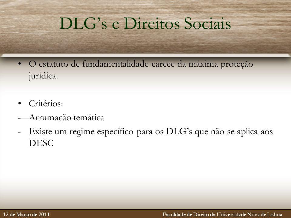 DLG's e Direitos Sociais