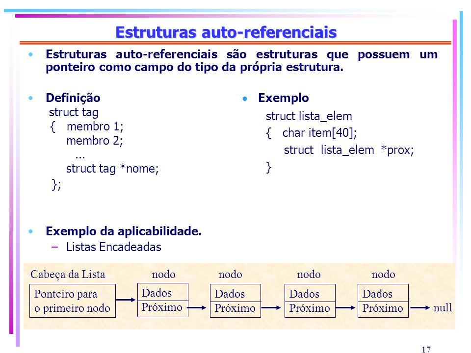 Estruturas auto-referenciais