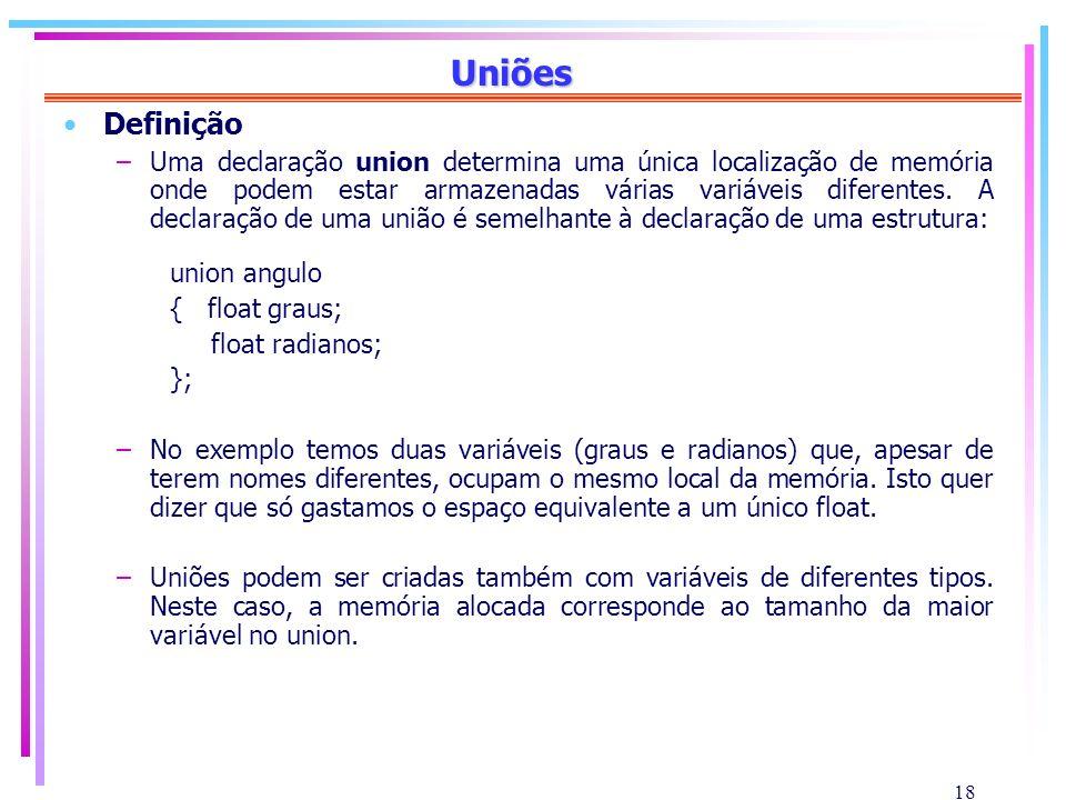 Uniões Definição.