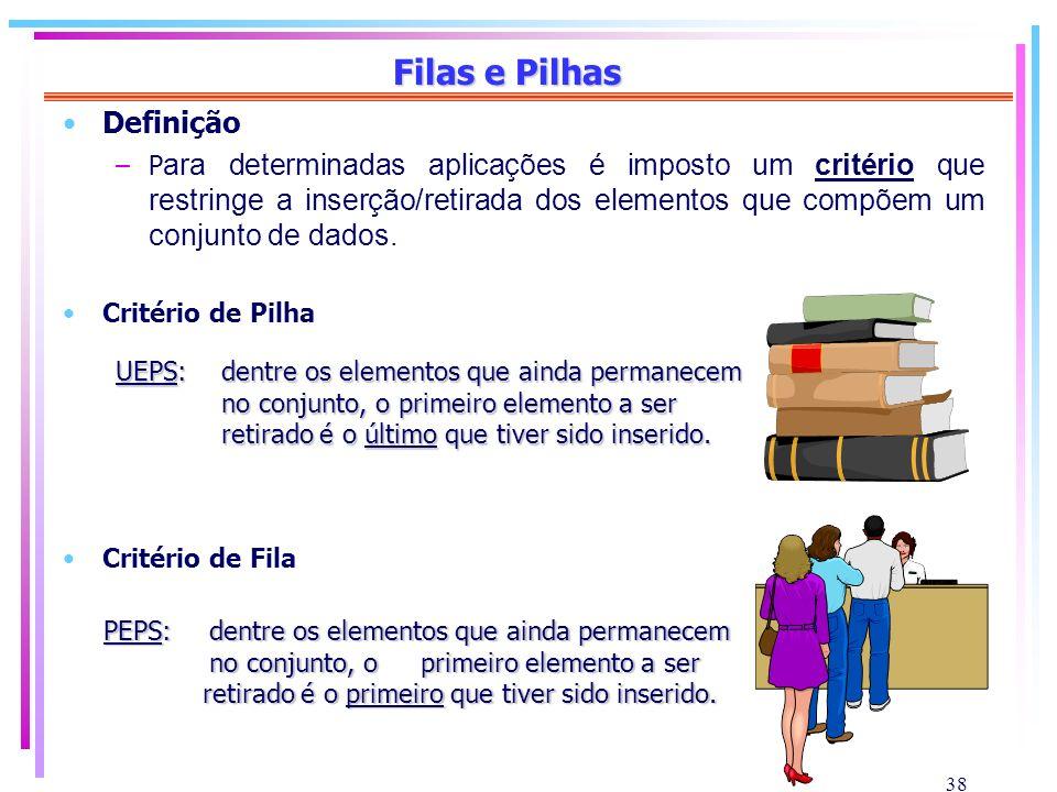 Filas e Pilhas Definição