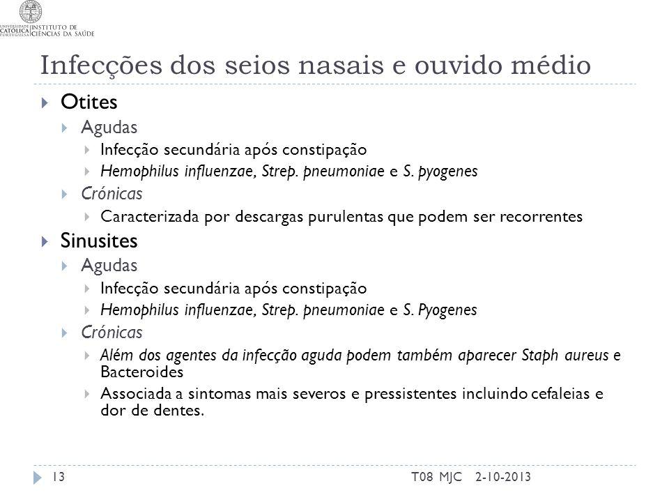 Infecções dos seios nasais e ouvido médio