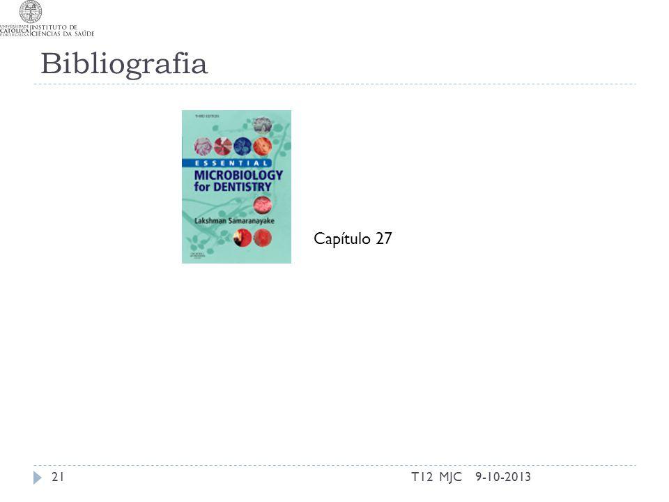 Bibliografia Capítulo 27 T12 MJC 9-10-2013
