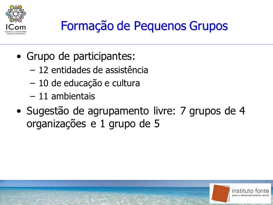 Formação de Pequenos Grupos