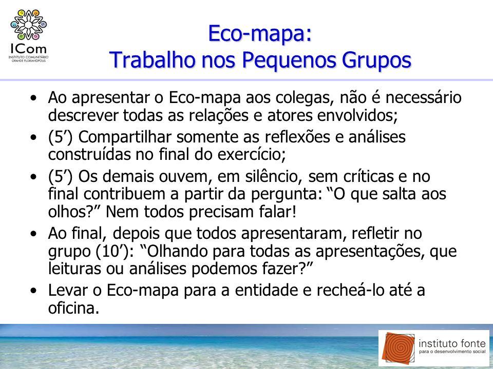 Eco-mapa: Trabalho nos Pequenos Grupos