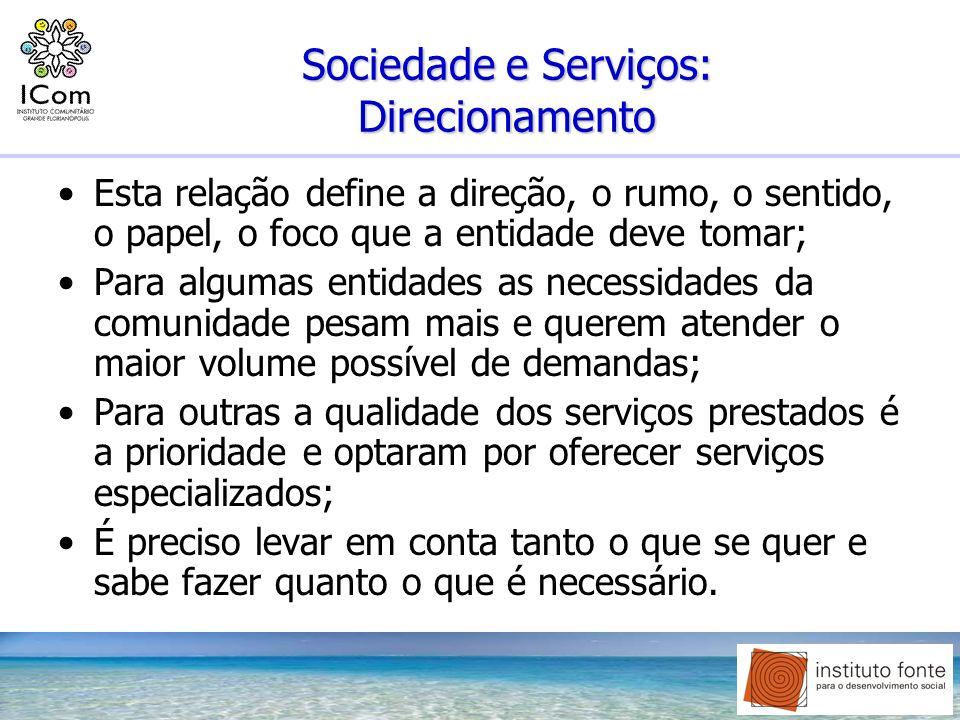 Sociedade e Serviços: Direcionamento