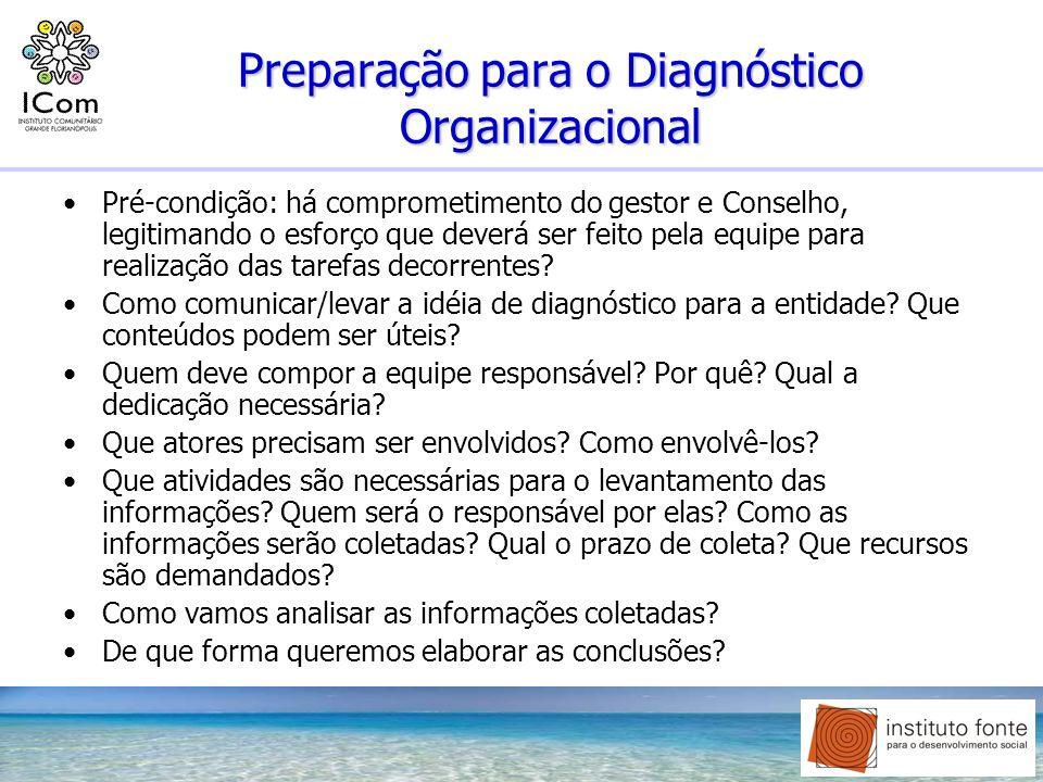 Preparação para o Diagnóstico Organizacional