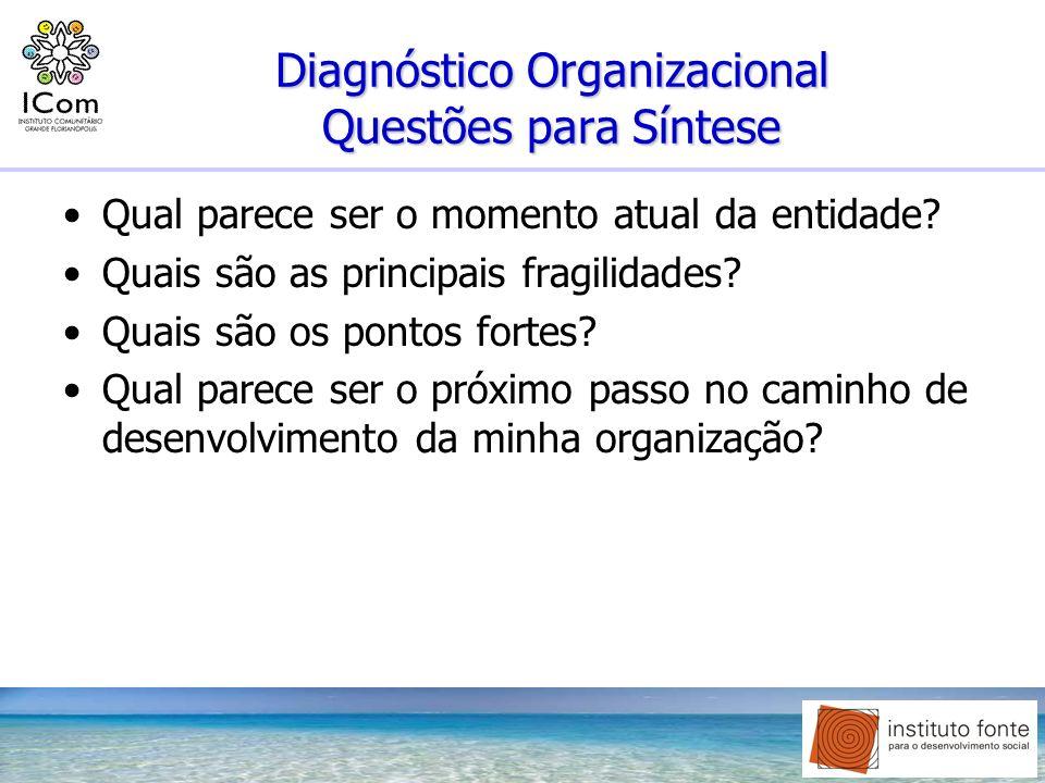 Diagnóstico Organizacional Questões para Síntese