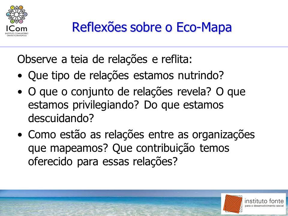 Reflexões sobre o Eco-Mapa