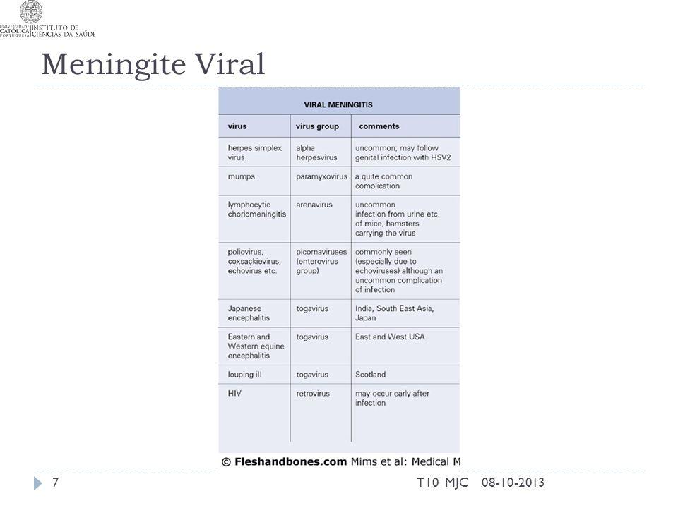 Meningite Viral T10 MJC 08-10-2013