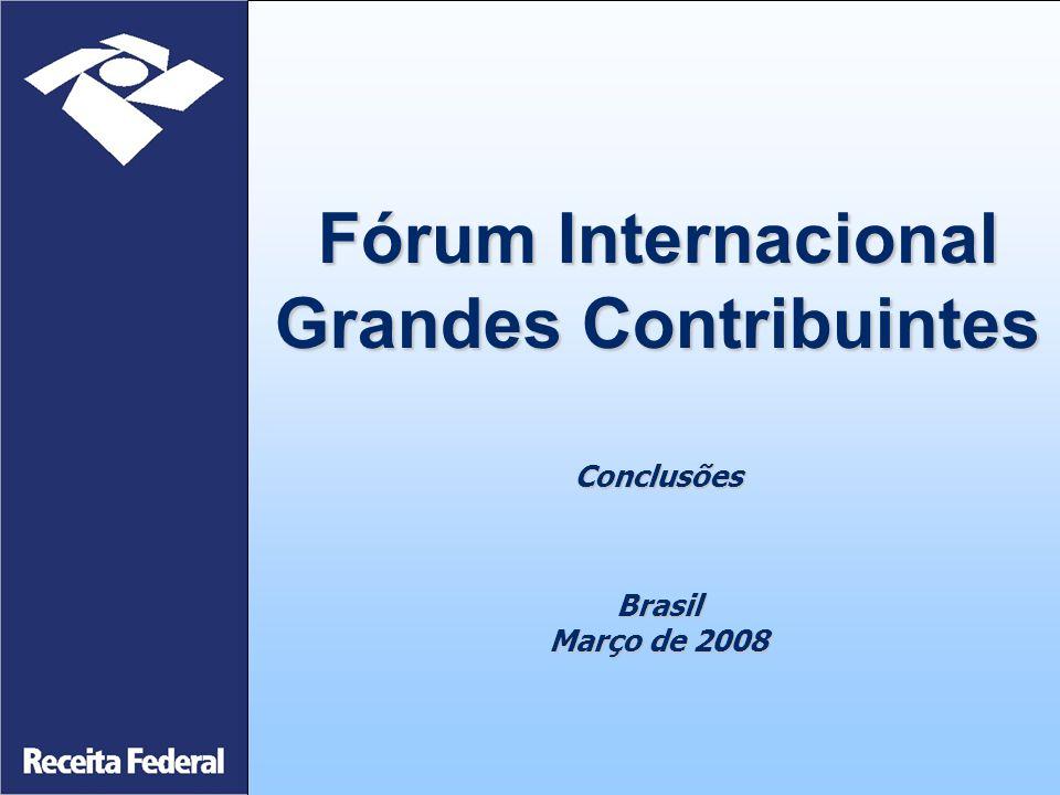 Fórum Internacional Grandes Contribuintes