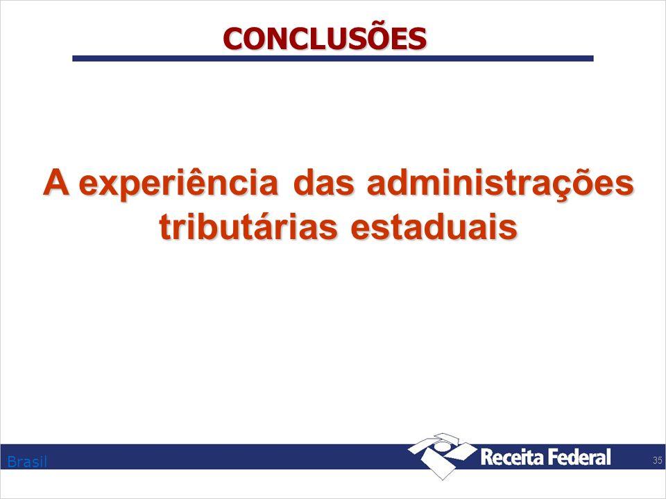 A experiência das administrações tributárias estaduais