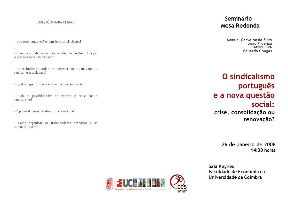 O sindicalismo português e a nova questão social: