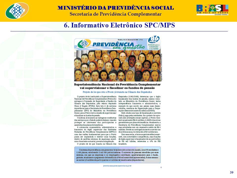 6. Informativo Eletrônico SPC/MPS