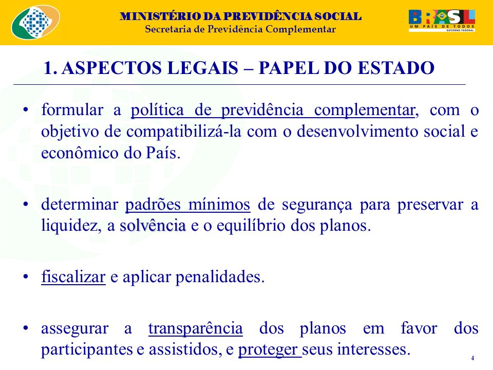 1. ASPECTOS LEGAIS – PAPEL DO ESTADO
