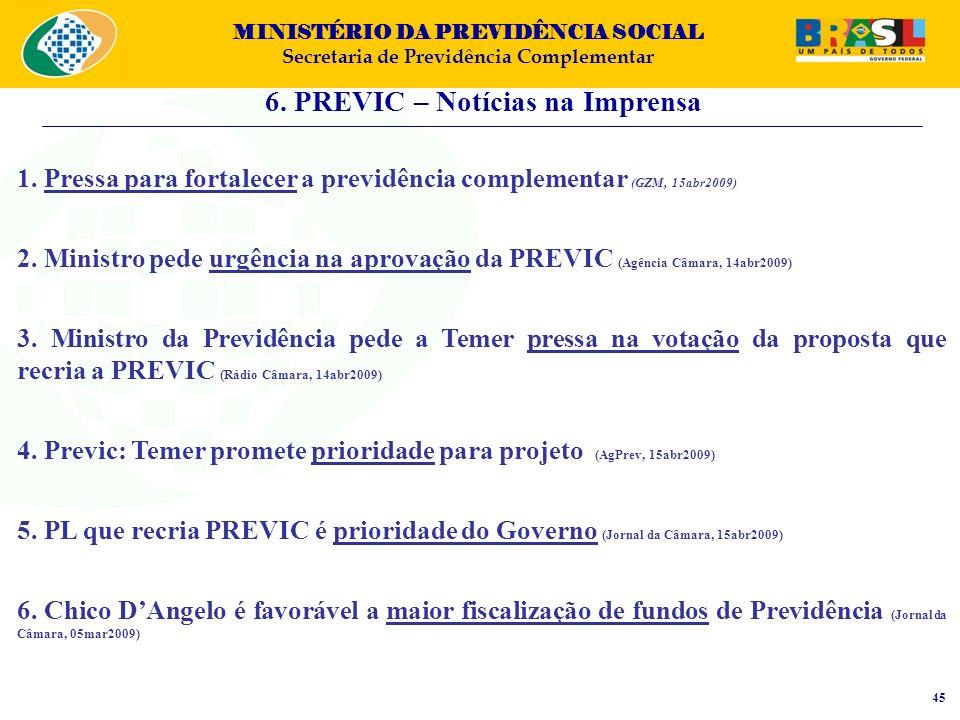 6. PREVIC – Notícias na Imprensa