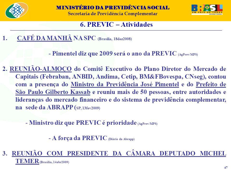 6. PREVIC – Atividades CAFÉ DA MANHÃ NA SPC (Brasília, 18dez2008)