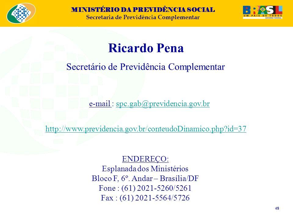 Ricardo Pena Secretário de Previdência Complementar