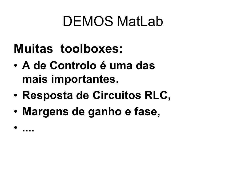 DEMOS MatLab Muitas toolboxes: